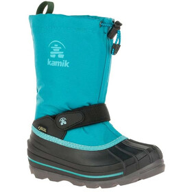Kamik Waterbug 8G Bottes d'hiver Adolescents, turquoise/noir